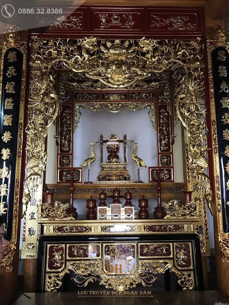 Cửa võng sơn son thếp vàng