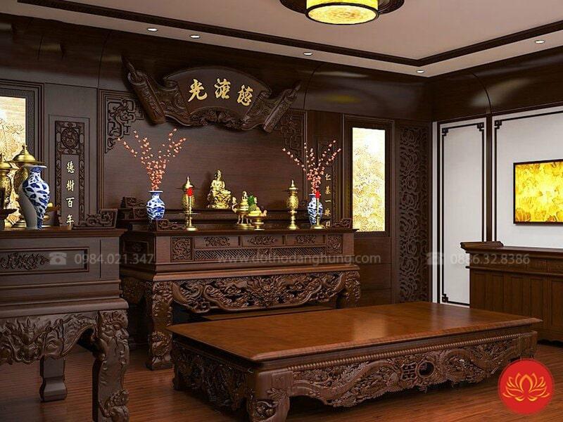thiết kế nội thất phòng thờ PT06