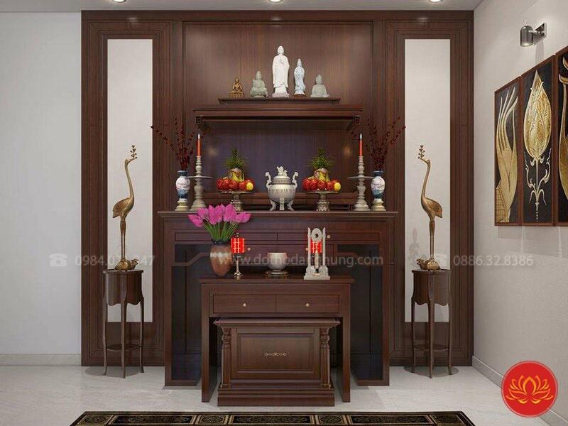 thiết kế nội thất phòng thờ PT11