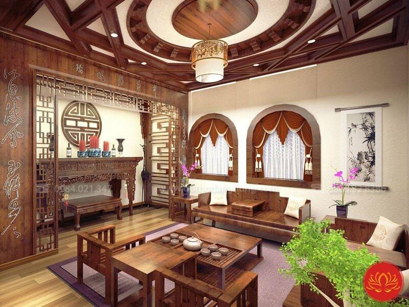 thiết kế nội thất phòng thờ PT15