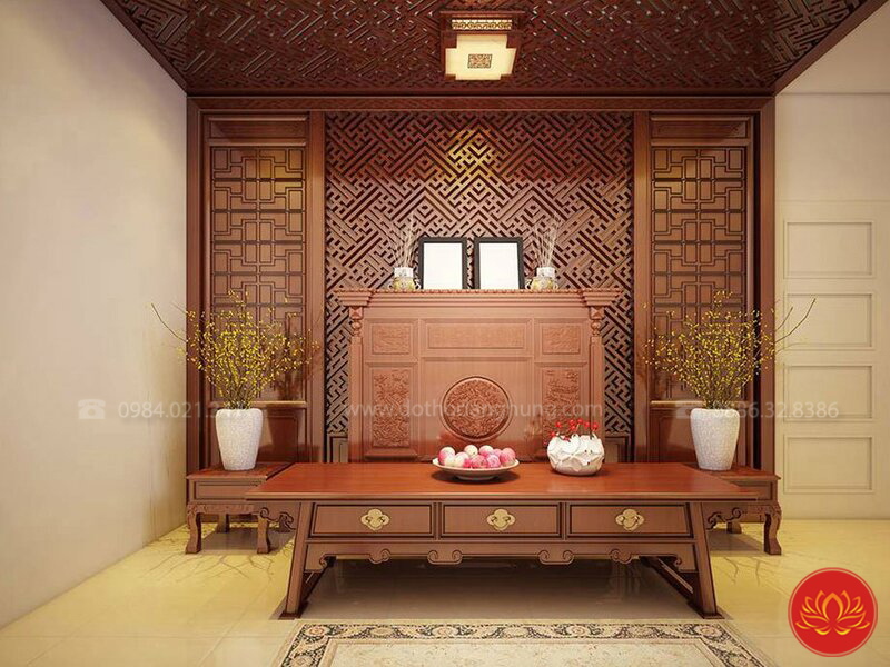 thiết kế nội thất phòng thờ PT16