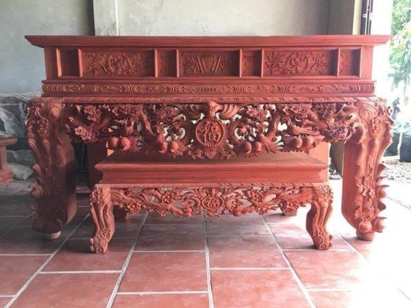 bàn thờ gỗ hương