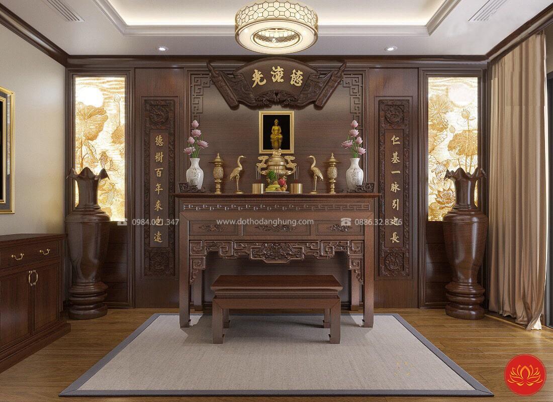 thiết kế nội thất phòng thờ PT04
