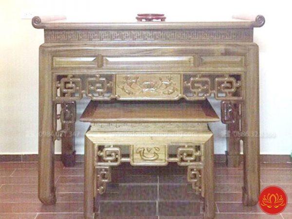 bàn thờ hiện đại hoa sen