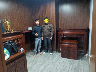 bàn thờ đẹp nhà anh khôi tại Nguyễn Chánh