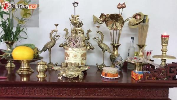 Cách đặt lư hương trên bàn thờ