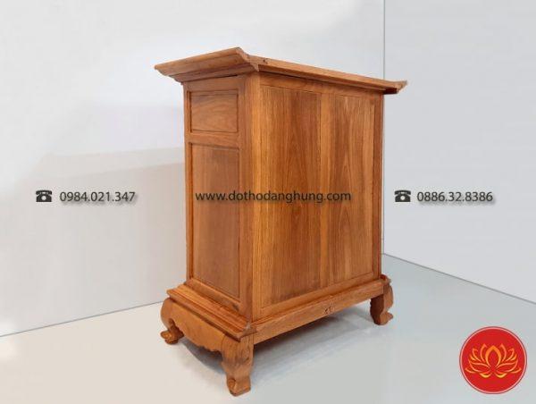 Mặt sau của tủ thờ gỗ