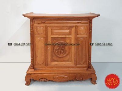 Vân gỗ tủ thờ gỗ hương nhận dạng rất dễ