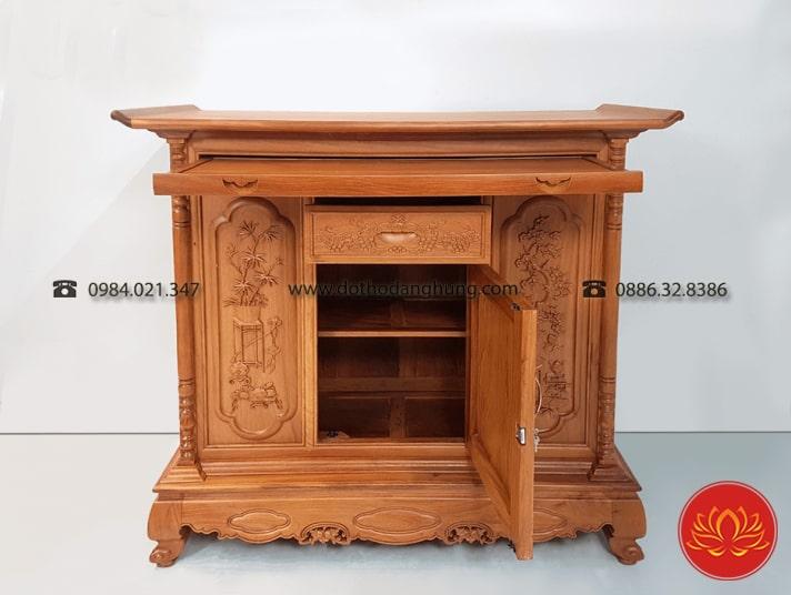 Bạn có thể phân biệt tủ thờ gỗ gụ thật và giả thông qua màu sắc, mùi hương, vân gỗ, độ bền