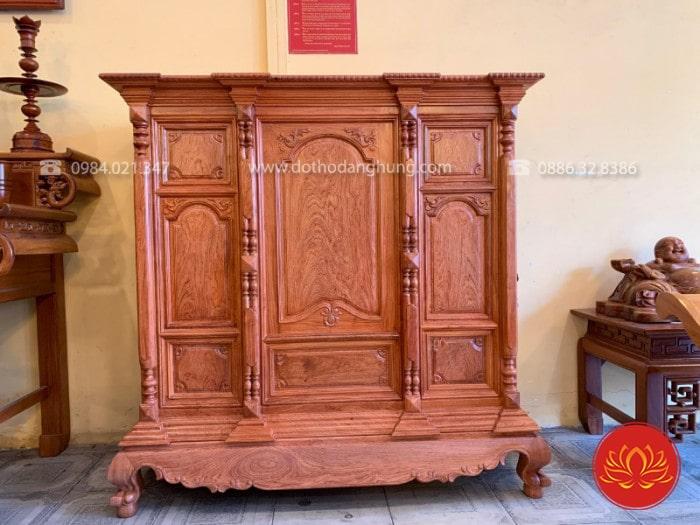 Tủ thờ chung cư gỗ hương