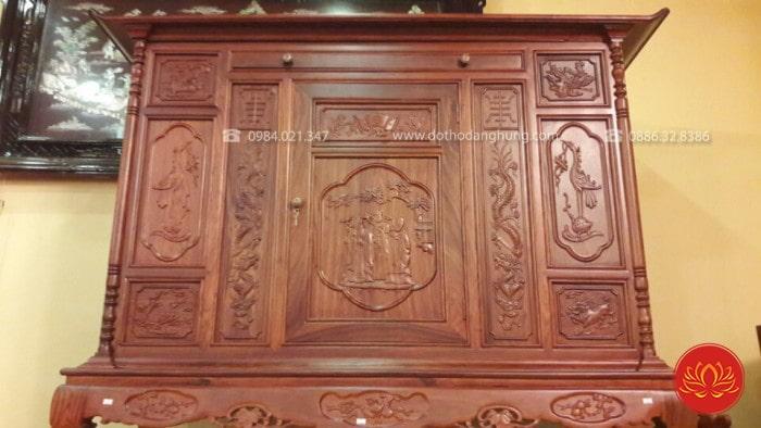 Ý nghĩa của tủ thờ được làm từ gỗ hương là gì?