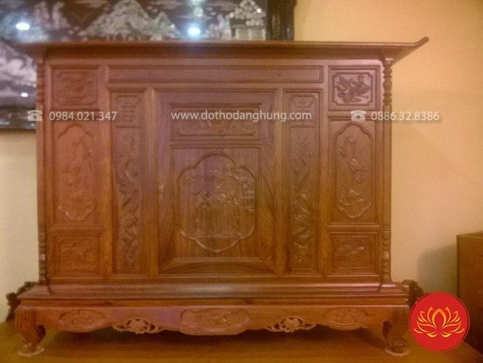 Tủ thờ gỗ hương vẫn luôn là lựa chọn số 1 của nhiều gia chủ