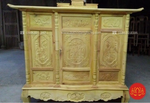 Tủ thờ gỗ mít