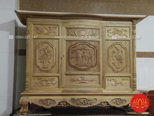 Tủ thờ gỗ mít được đánh giá rất cao về độ bền và nét đẹp