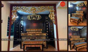 bàn thờ tam cấp sơn sơn thếp vàng