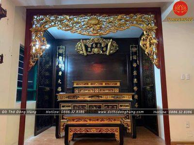 bàn thờ sơn son thếp vàng